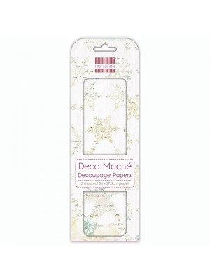 Deco Mache Distressed Snowflakes