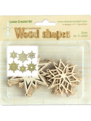Wood Shapes Stars