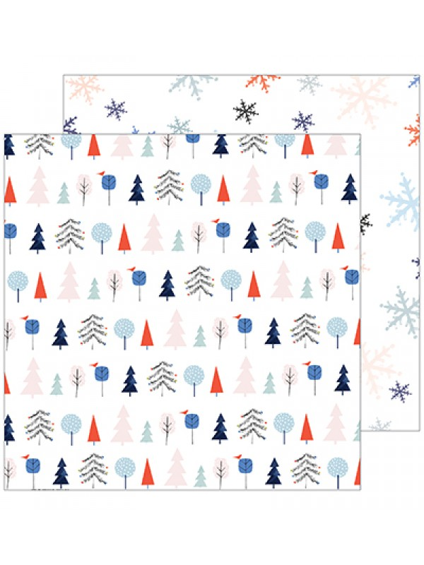 December days – Festive trees 12x12inch -Pinkfresh Studio