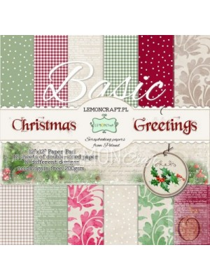 Christmas Greetings Basic -12x12 Paper Pad