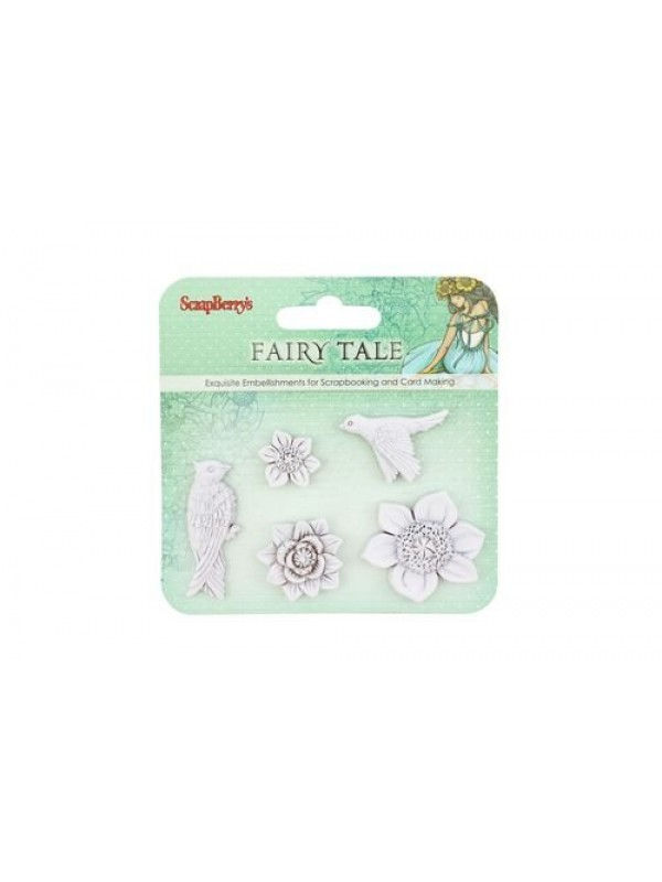 Set polymer items Fairy Tale  Birds