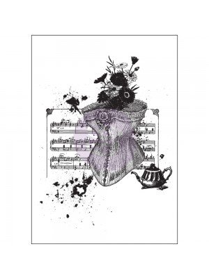 Mixed Media Cling Stamp - Treasured Memories 1