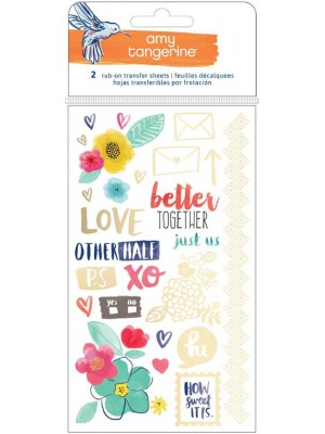 Better Together Gold Foil Rub-ons 2 Sheets