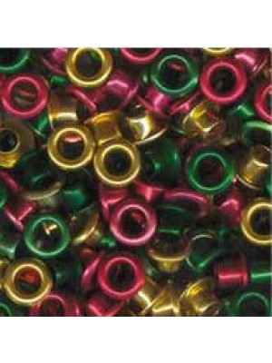"Eyelets metallic 1/8"" christmas 25 pcs."