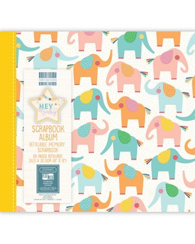 First Edition Hey Baby 8x8 Inch Album Elephants