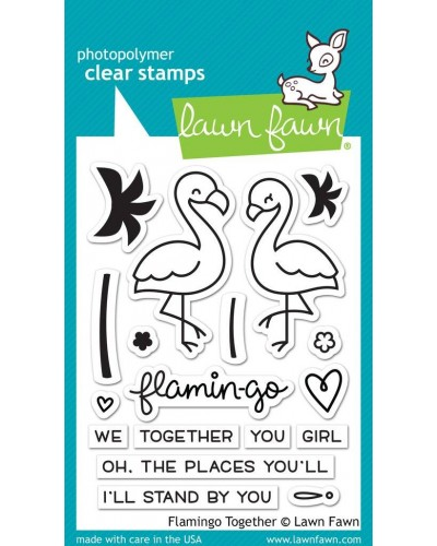 Διάφανες σγραγίδες Lawn Fawn Flamingo Together clear stamps