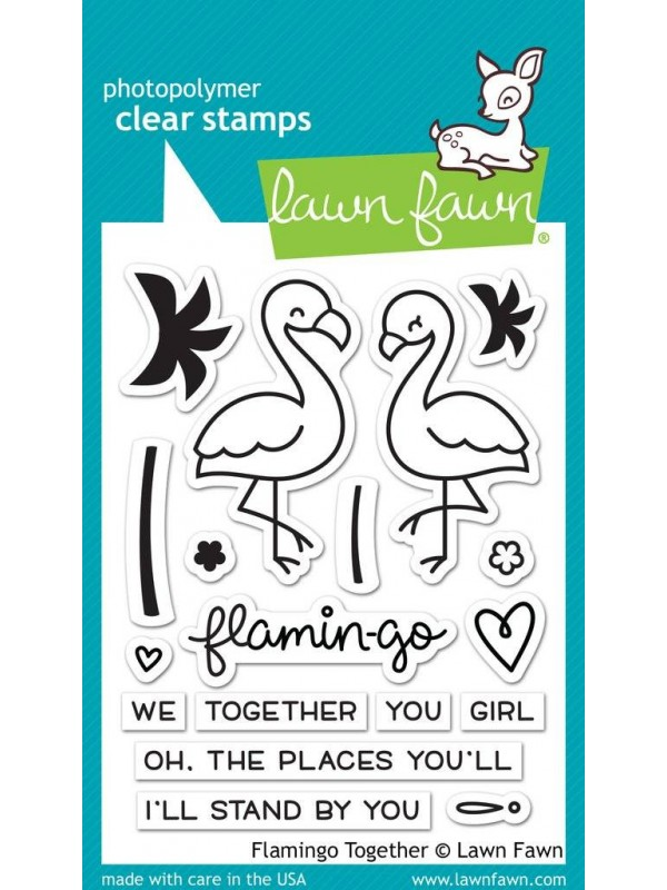 Lawn Fawn Flamingo Together clear stamps