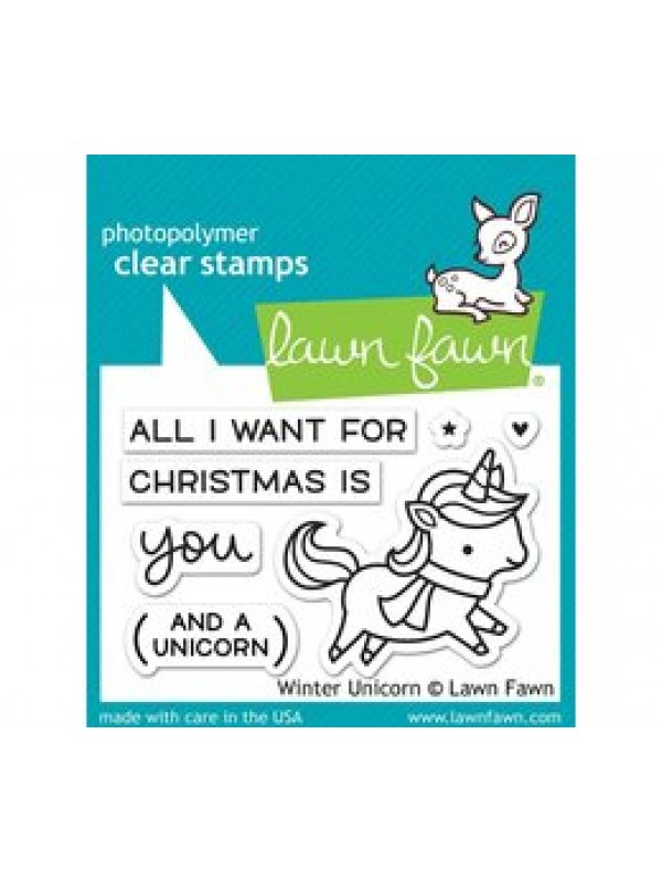Lawn Fawn Winter Unicorn