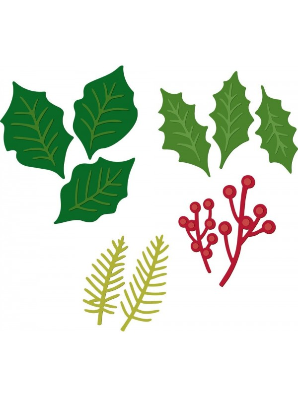 Crafter's Companion Vintage Christmas Festive Foliage Dies