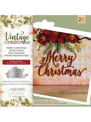Crafter's Companion Vintage Christmas Merry Christmas Dies