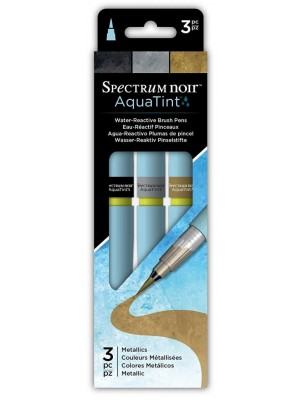 Μαρκαδόροι Spectrum Noir Spectrum Aquatint Pen Metallics (3pc)