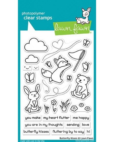 Διάφανες σφραγίδες Lawn Fawn Butterfly Kisses Clear Stamps