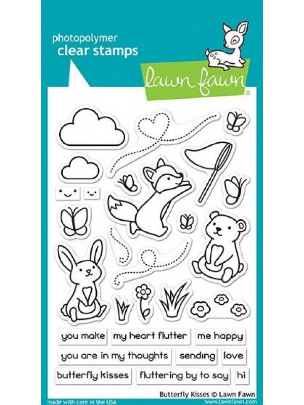 Lawn Fawn Butterfly Kisses Clear Stamps