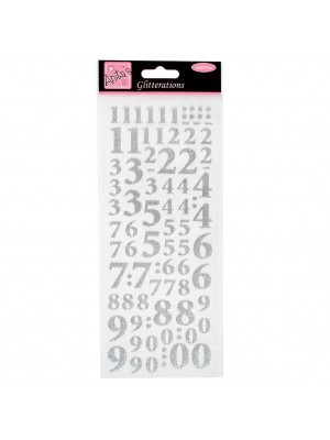 Anita's Glitterations Numbers Silver