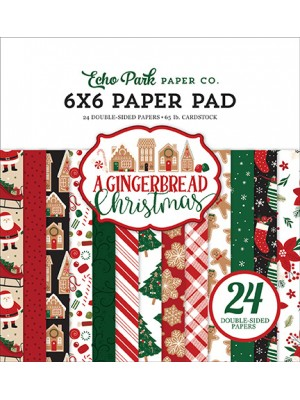 Mπλοκ χαρτιών Echo Park A Gingerbread Christmas 6x6 Inch Paper Pad