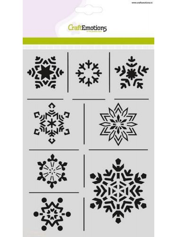 Stencil -ice crystals A5 Christmas Nature
