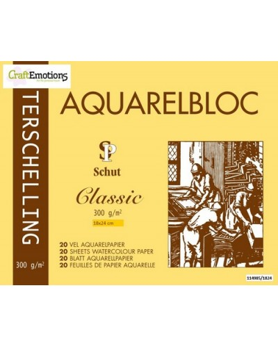 Schut Terschelling Watercoloured pad Classic 18x24cm 300 gram - 20 sheets
