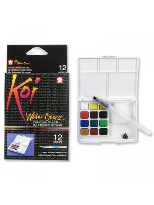 Sakura Koi Watercolor Field Sketch Box Set - 12 Color Palette