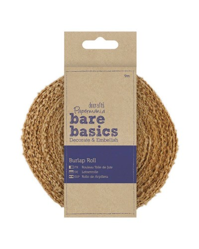 Bare Basics Burlap Roll (9m) - Papermania