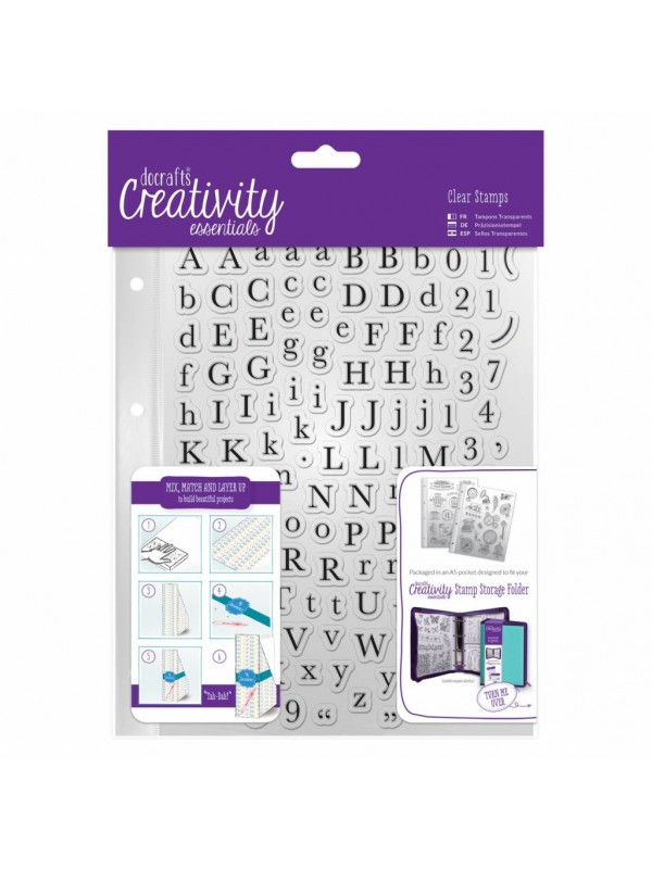 Σφραγίδες Docrafts A5 Clear Stamp Set (129pcs) - Alphas Trad