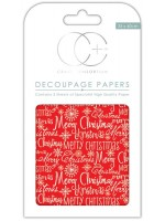 Merry Christmas Decoupage Papers