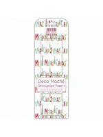 Deco Mache Merry Christmas Multi