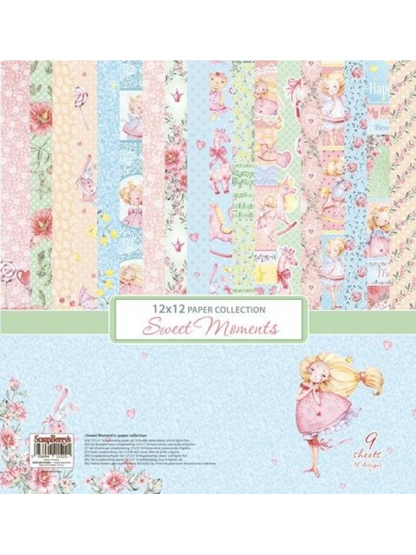 Sweet Moments Paper Set 12x12 Inch (9 φύλλα)