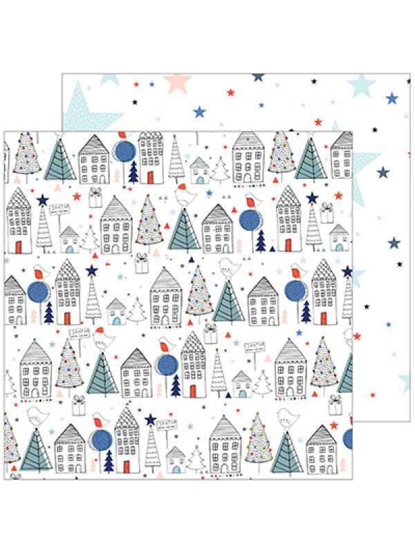 December days collection paper pack double sided papers 12x12inch -Pinkfresh Studio