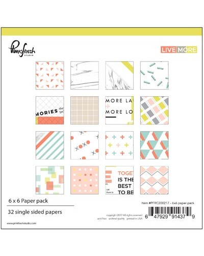 Pinkfresh Studio - Live More Paper pack 6x6