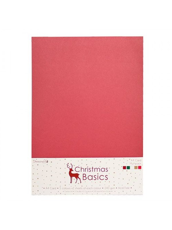 Christmas Basics A4 Card Pack
