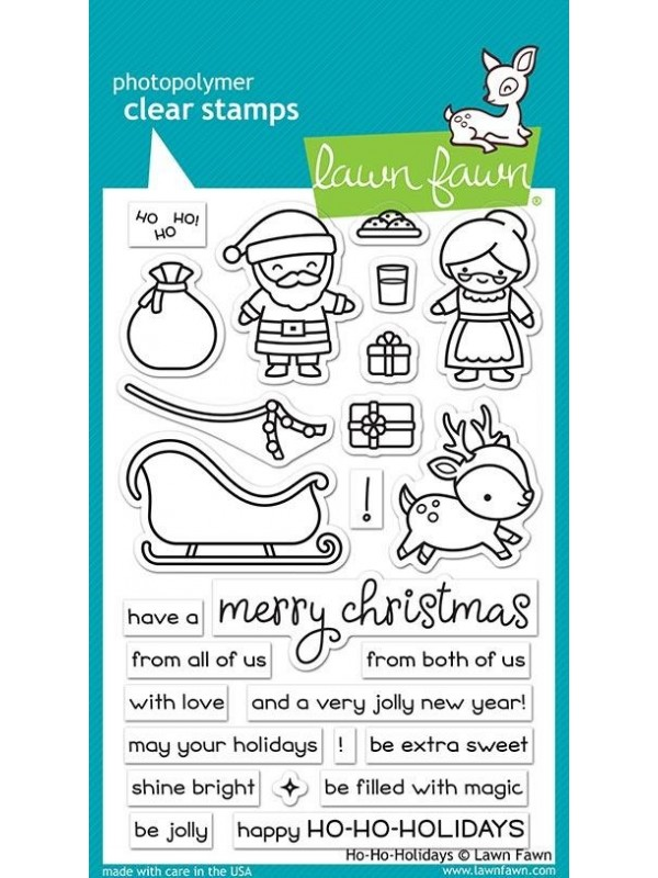 Lawn Fawn Ho-Ho-Holidays Clear Stamps  LF2029