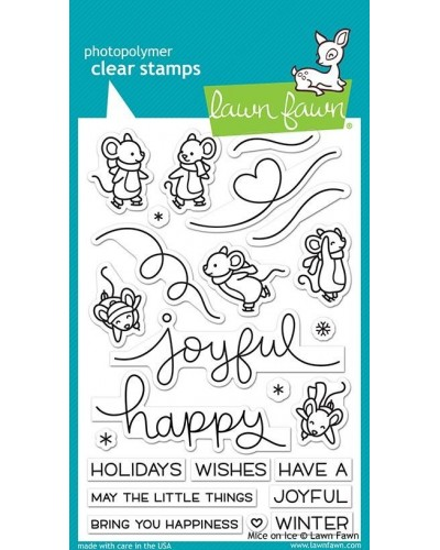 Διάφανες σφραγίδες Lawn Fawn Mice on Ice Clear Stamps  LF2031