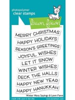 Lawn Fawn Winter Wavy Sayings Clear Stamps (LF2037)