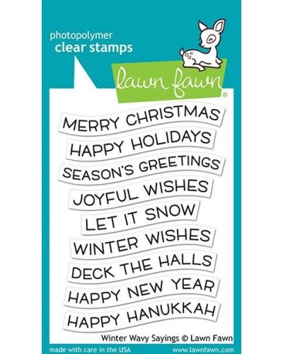 Διάφανες σφραγίδες Lawn Fawn Winter Wavy Sayings Clear Stamps (LF2037)