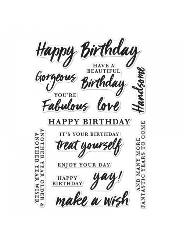 Hero Arts - Birthday Messages Stamp 4''x6''  CM136