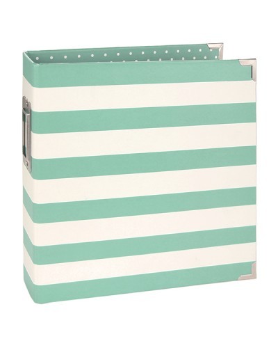 Simple Stories 6x8 Designer Binder - Robins Egg Stripe