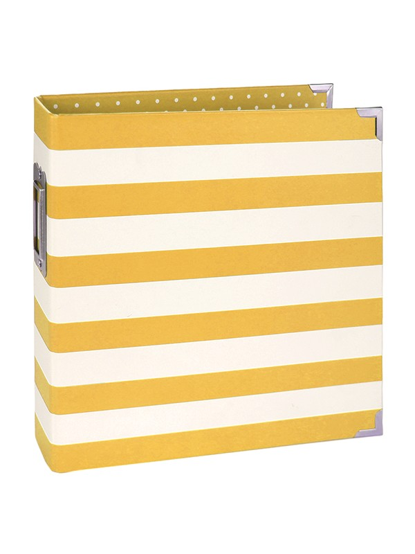 6x8 Designer Binder - Yellow Stripe