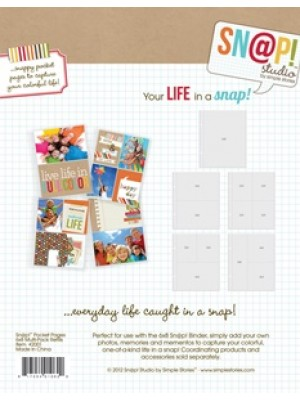 "Sn@p! - Variety Pack Pocket Pages For 6""X8"" Binders 10/Pkg"
