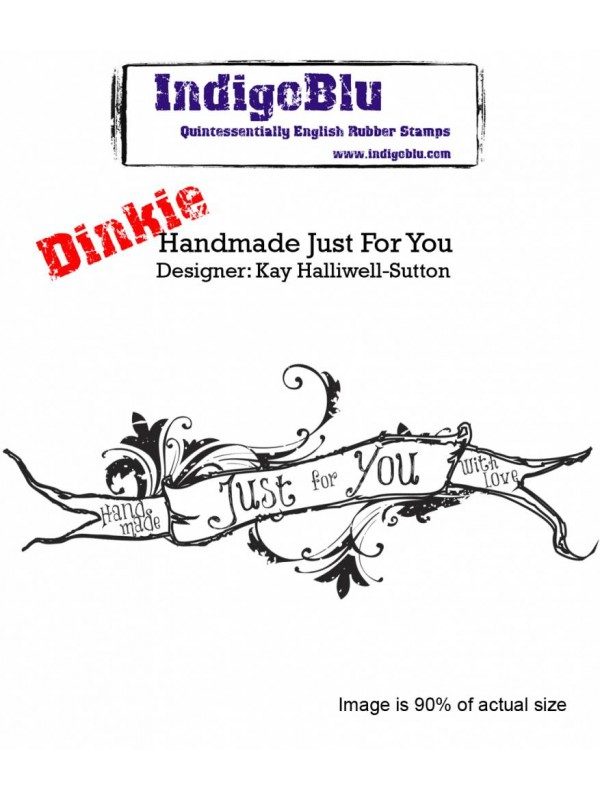Σφραγίδα από λάστιχο IndigoBlu Handmade Just For You A7 Rubber Stamps