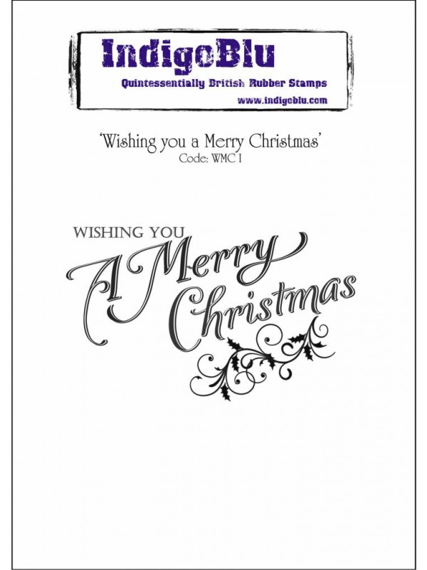 Σφραγίδα από λάστιχο IndigoBlu Wishing You A Merry Christmas Mounted A6 Rubber Stamp