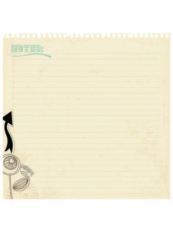 Hopscotch Die Cut Notes 30.5x30.5cm
