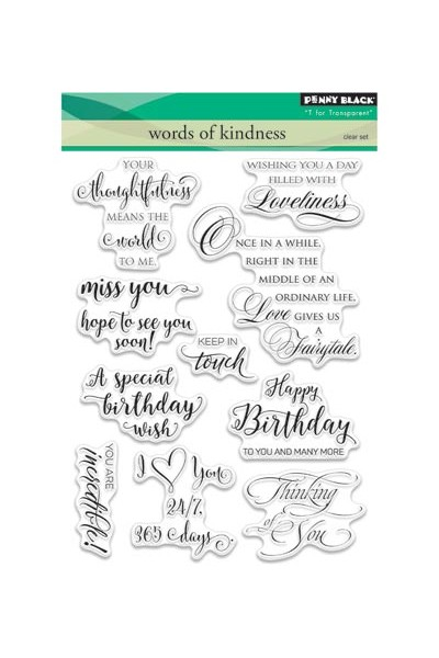 Words of Kidness -Stamp set -Penny Black
