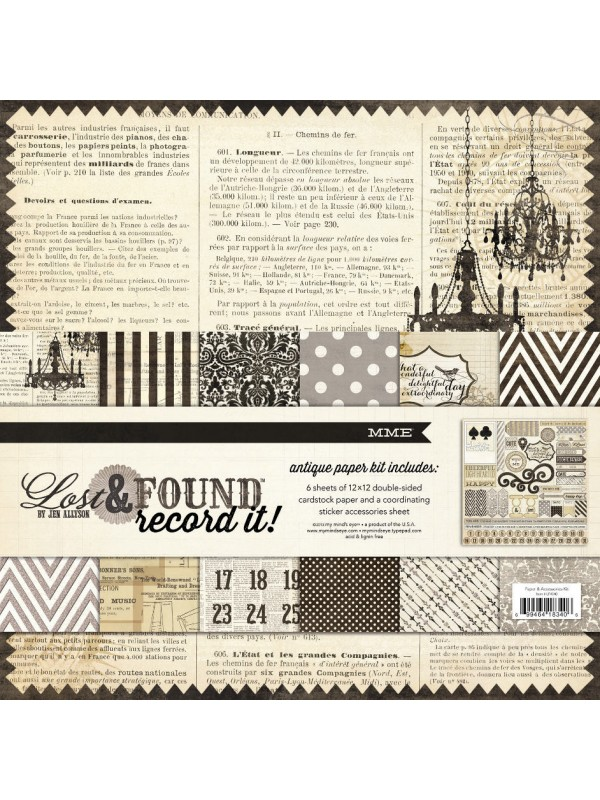 Lost & Found - Antique Paper and Accessories Kit