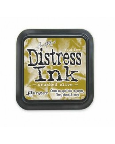 Distress ink pad -Crushed Olive